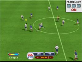 In game image of 2002 FIFA World Cup on the Sony Playstation.