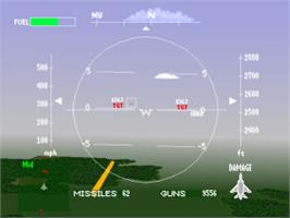 In game image of Air Combat on the Sony Playstation.