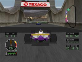 In game image of Andretti Racing on the Sony Playstation.