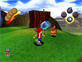 In game image of Ape Escape on the Sony Playstation.