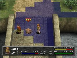 In game image of Arc the Lad III on the Sony Playstation.