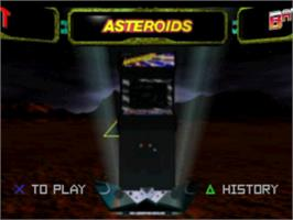 In game image of Arcade's Greatest Hits: The Atari Collection 1 on the Sony Playstation.