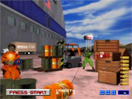 In game image of Area 51 on the Sony Playstation.