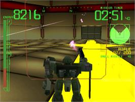 In game image of Armored Core: Project Phantasma on the Sony Playstation.