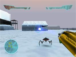 In game image of Armorines: Project S.W.A.R.M. on the Sony Playstation.