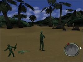 In game image of Army Men: World War on the Sony Playstation.