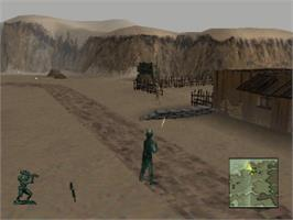 In game image of Army Men 3D on the Sony Playstation.