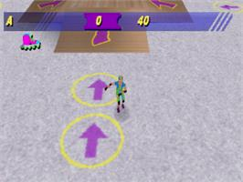 In game image of Barbie: Super Sports on the Sony Playstation.