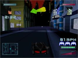 In game image of Batman: Gotham City Racer on the Sony Playstation.