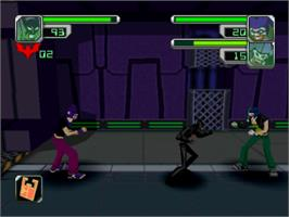 In game image of Batman Beyond: Return of the Joker on the Sony Playstation.