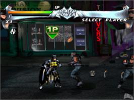 In game image of Batman Forever: The Arcade Game on the Sony Playstation.