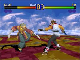 In game image of Battle Arena Toshinden on the Sony Playstation.