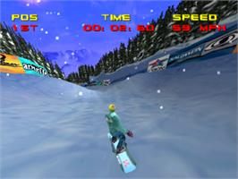 In game image of Big Air on the Sony Playstation.