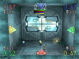In game image of Blast Chamber on the Sony Playstation.