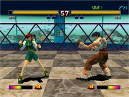 In game image of Bloody Roar II on the Sony Playstation.