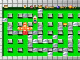 In game image of Bomberman Party Edition on the Sony Playstation.