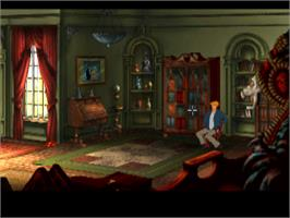 In game image of Broken Sword 2: The Smoking Mirror on the Sony Playstation.