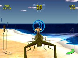 In game image of BugRiders: The Race of Kings on the Sony Playstation.