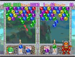In game image of Bust-A-Move '99 on the Sony Playstation.