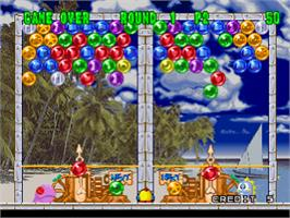 In game image of Bust-A-Move 2: Arcade Edition on the Sony Playstation.
