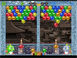 In game image of Bust-A-Move 4 on the Sony Playstation.