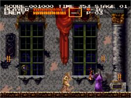 In game image of Castlevania Chronicles on the Sony Playstation.