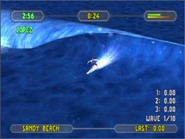 In game image of Championship Surfer on the Sony Playstation.