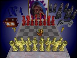 In game image of Chessmaster 3-D on the Sony Playstation.