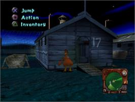 In game image of Chicken Run on the Sony Playstation.