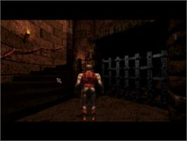 In game image of Chronicles of the Sword on the Sony Playstation.