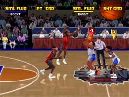 In game image of College Slam on the Sony Playstation.