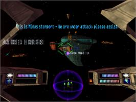 In game image of Colony Wars: Vengeance on the Sony Playstation.