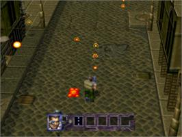 In game image of Contra: Legacy of War on the Sony Playstation.