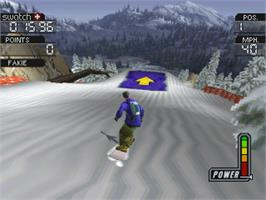 In game image of Cool Boarders 3 on the Sony Playstation.