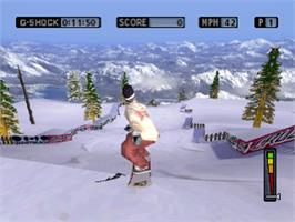 In game image of Cool Boarders 4 on the Sony Playstation.