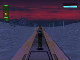 In game image of Covert Ops: Nuclear Dawn on the Sony Playstation.