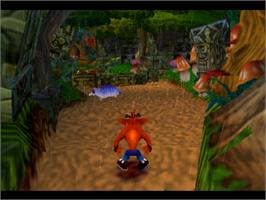 In game image of Crash Bandicoot 2: Cortex Strikes Back on the Sony Playstation.