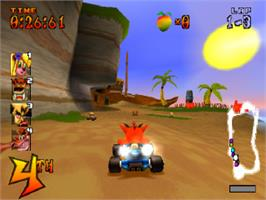 In game image of Crash Team Racing on the Sony Playstation.