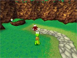 In game image of Croc: Legend of the Gobbos on the Sony Playstation.