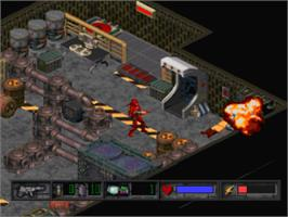In game image of Crusader: No Remorse on the Sony Playstation.