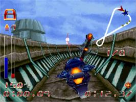 In game image of CyberSpeed on the Sony Playstation.