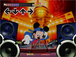 In game image of Dance Dance Revolution: Disney Mix on the Sony Playstation.