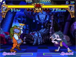 In game image of Darkstalkers: The Night Warriors on the Sony Playstation.