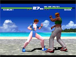 In game image of Dead or Alive on the Sony Playstation.