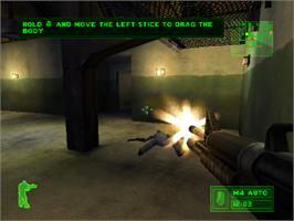 In game image of Delta Force: Urban Warfare on the Sony Playstation.