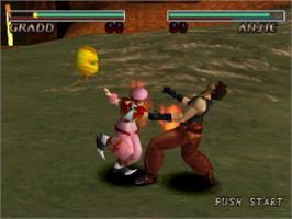 In game image of Destrega on the Sony Playstation.