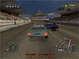 In game image of Destruction Derby Raw on the Sony Playstation.