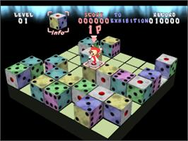 In game image of Devil Dice on the Sony Playstation.