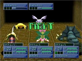 In game image of Digimon World 2 on the Sony Playstation.