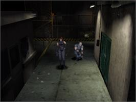 In game image of Dino Crisis on the Sony Playstation.